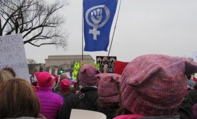 Stills from the Women's March on Washington.