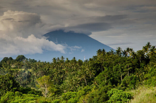 Biking adventures on a Balinese volcano in Indonesia.