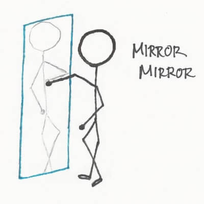 Looking in the mirror boosts self-confidence.
