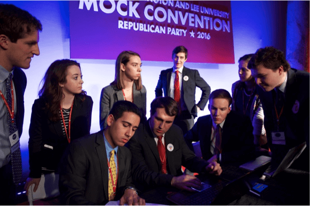 Mock Convention is really cool at Washington and Lee University.