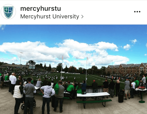 Mercyhurst tailgate at a football game