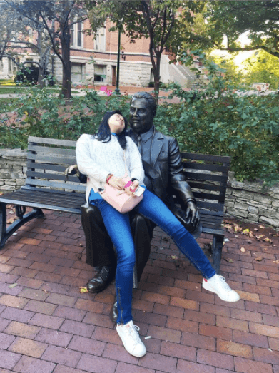 Snap a pic with Herman B. Wells at Indiana University.