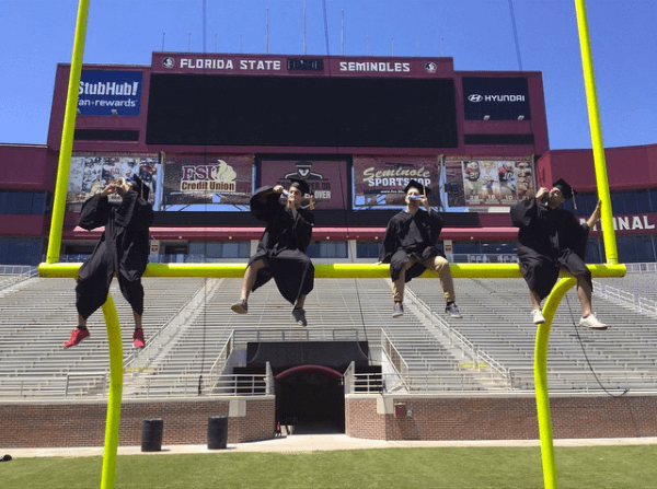 Take a Y-bomb on the goalpost in Doak before you graduate. If that's not one of the biggest signs you went to FSU, I don't know what is.