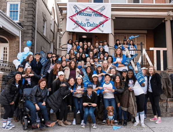 UPenn's ADPi welcomes home new members.
