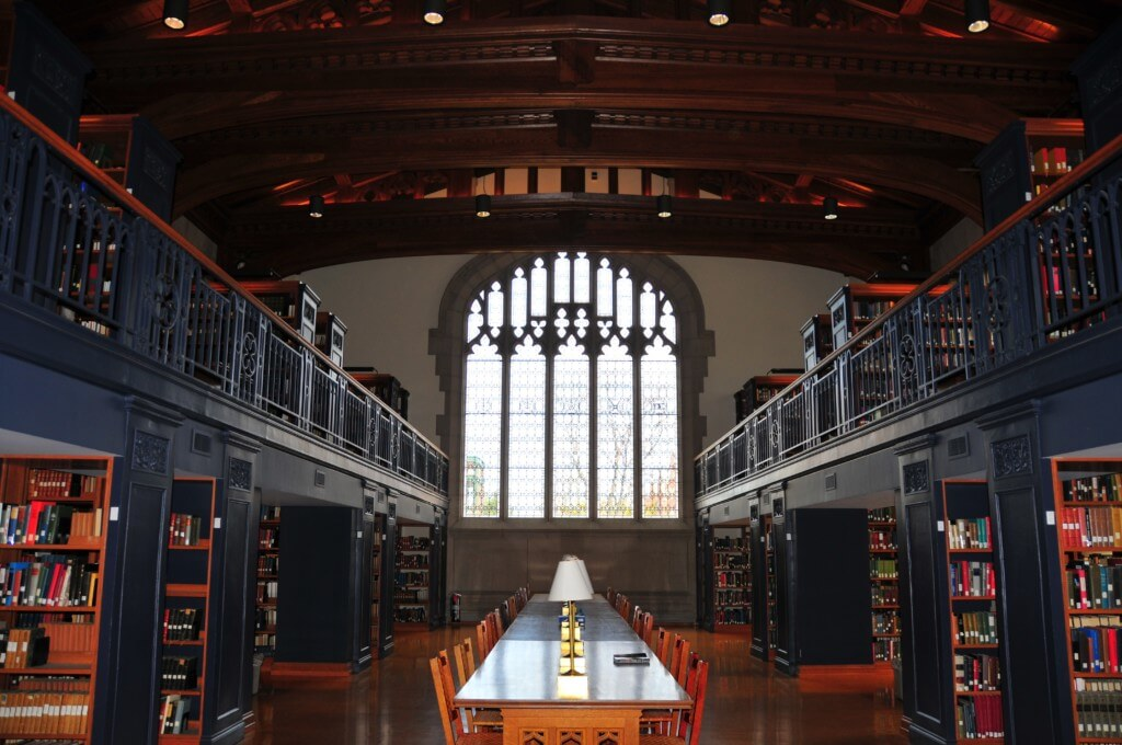 Vassar has a beautiful library perfect for studying.