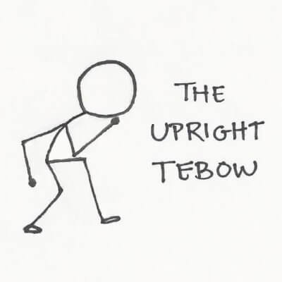 Crouch like Tebow and receive the power.
