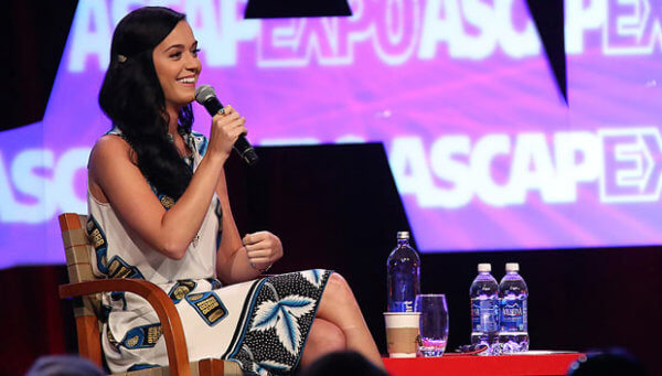 Katy Perry speaking at the ASCAP Music Expo.