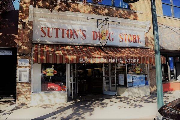 sutton's drug store on franklin street