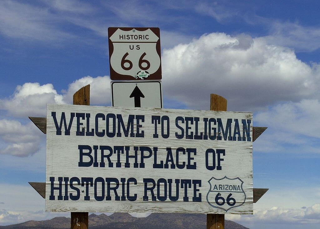 The Cars movies were loosely based on Seligman, Arizona.