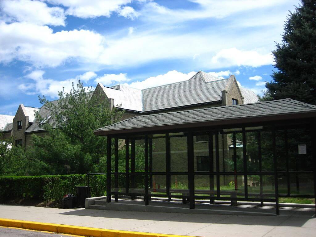 The bus stop at BC