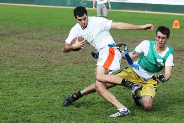 Intramurals at Walla Walla involve flag football and other sports.