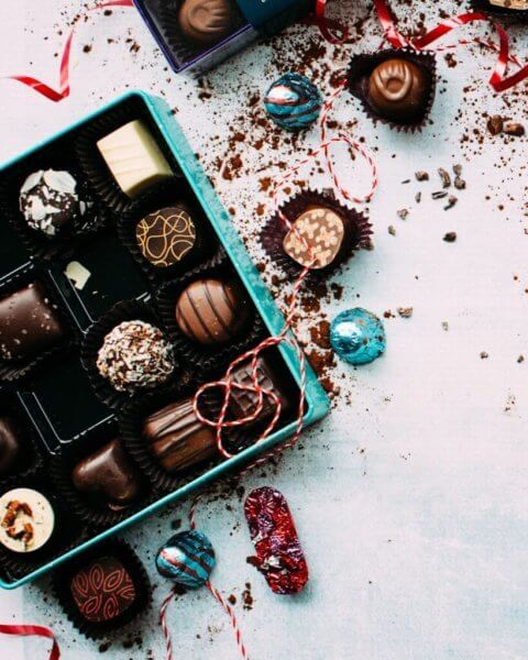 pack a box of chocolate truffles for a romantic Valentine's Day Picnic