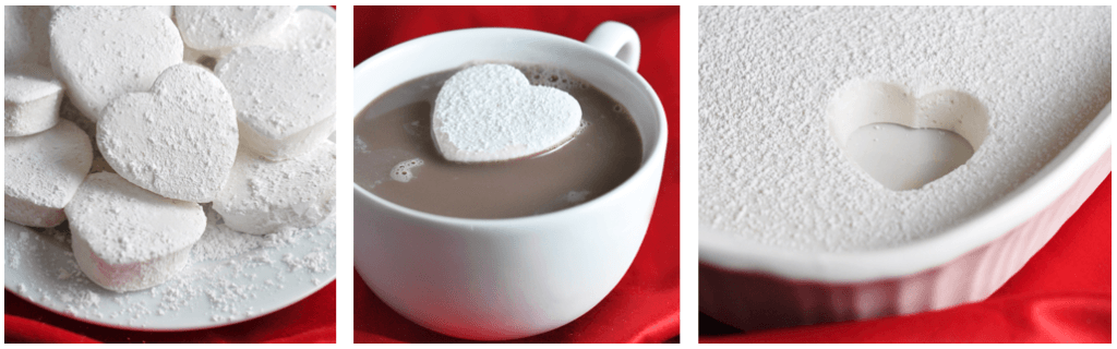 Valentine's Day Picnic needs heart shaped marshmallows and hot chocolate