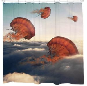 Gift For Girlfriend Jellyfish Clouds Shower Curtain