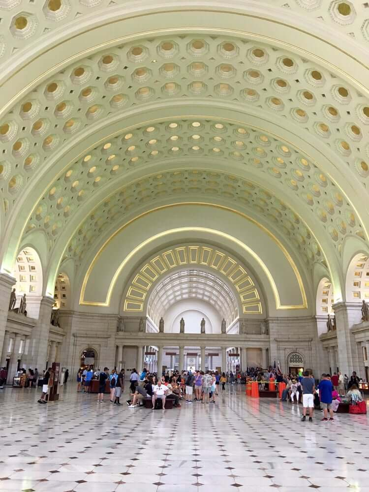 The Union Station has beautiful arches