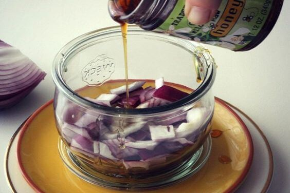 red onion syrup gets rid of a cough