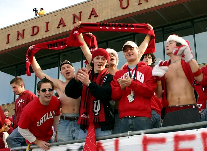 IU's fans have tons of school spirit