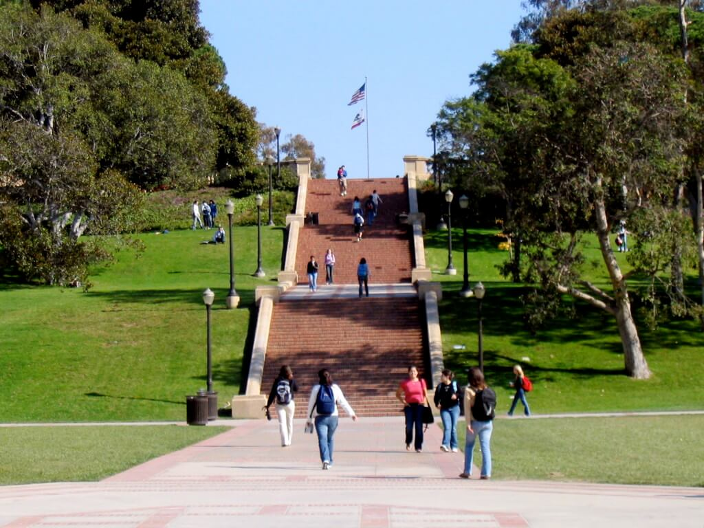 Janss Steps during midterms at UCLA