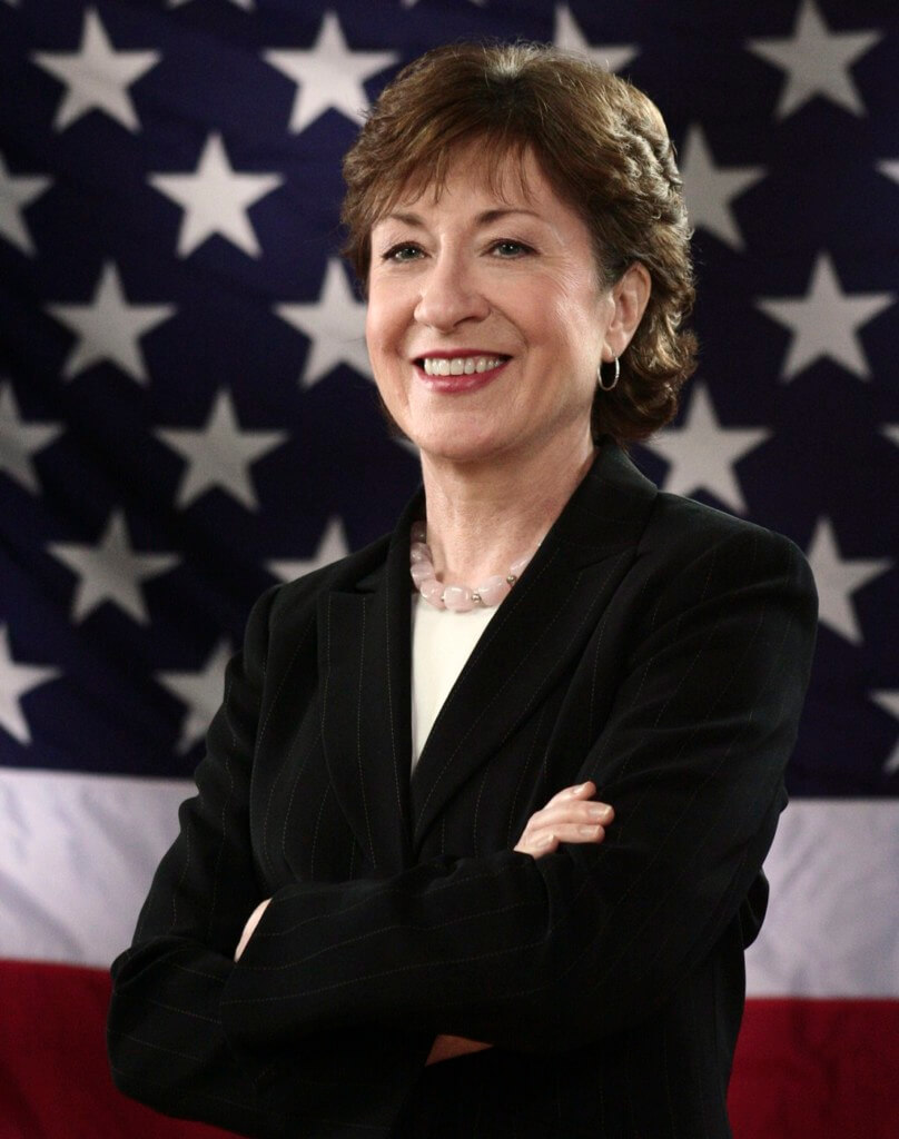 Susan Collins is a powerful woman in government.