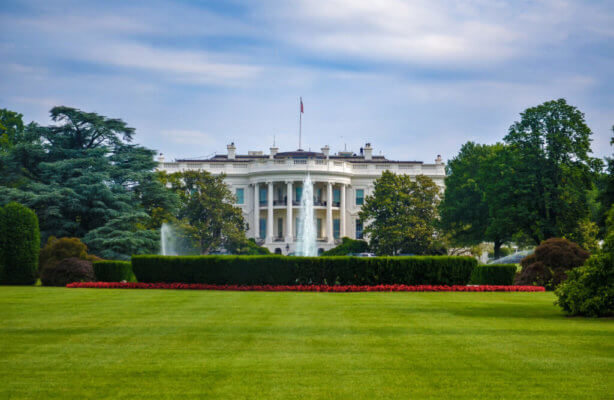 The White House, home of the executive branch: the president and cabinet positions