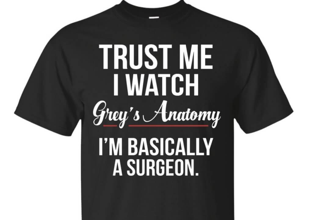 Grey's anatomy best t-shirts
