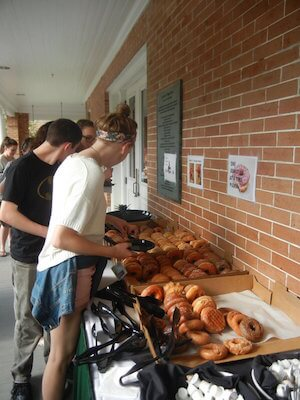 free coffee and donuts at tulane