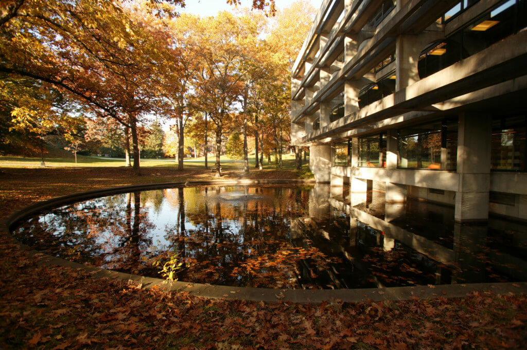reflecting pond for undecided majors at wellesley