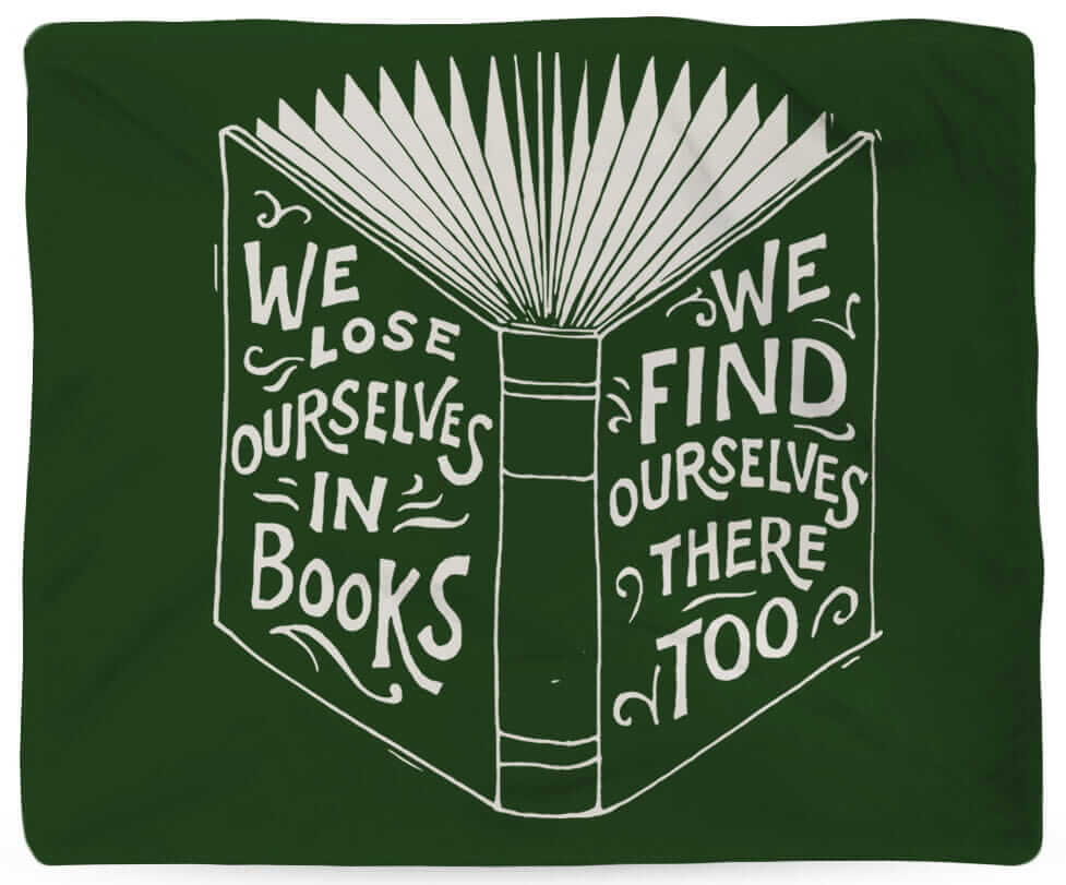 we lose ourselves in books blanket