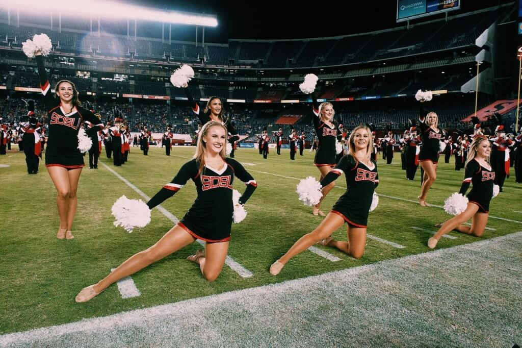 San Diego State University dance team