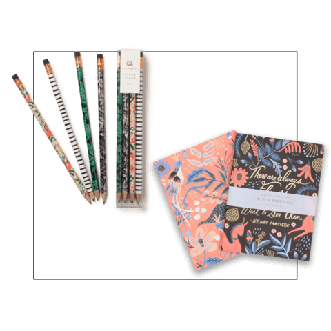 pencils and notebooks creative gifts for girlfriend