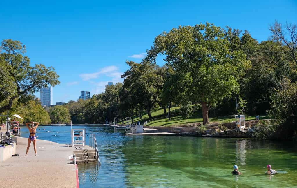 barton springs pool free fun in austin