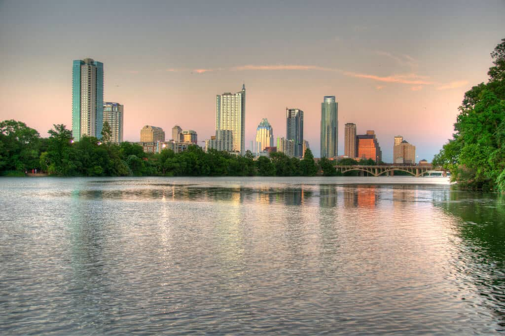 Free things to do in Austin include Lady Bird Lake.