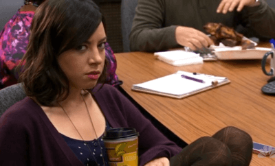 april ludgate parks and rec throwing shade