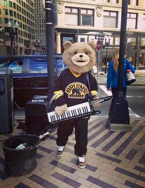 Keytar bear Boston