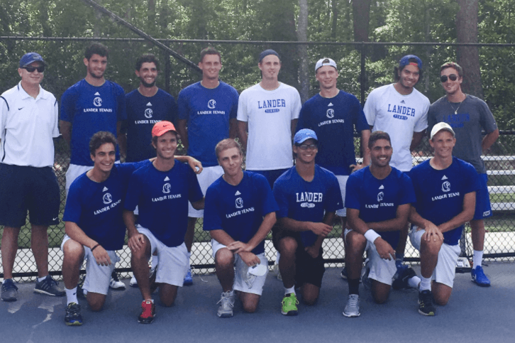 lander university tennis players