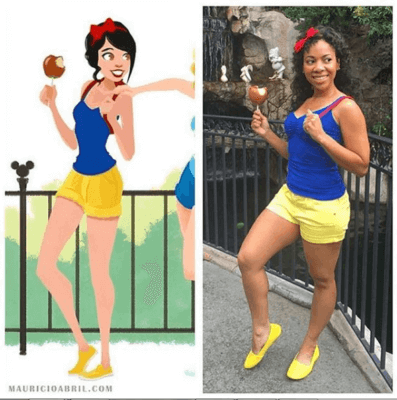 snow white disney bound