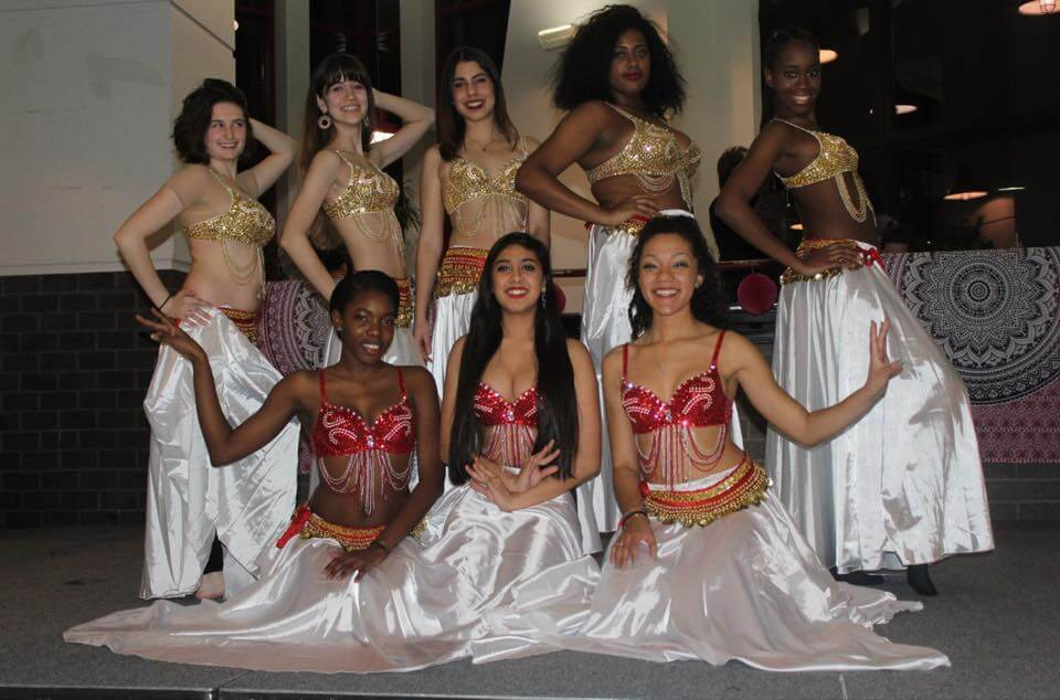 Members of Temple University Belly Dancing Club