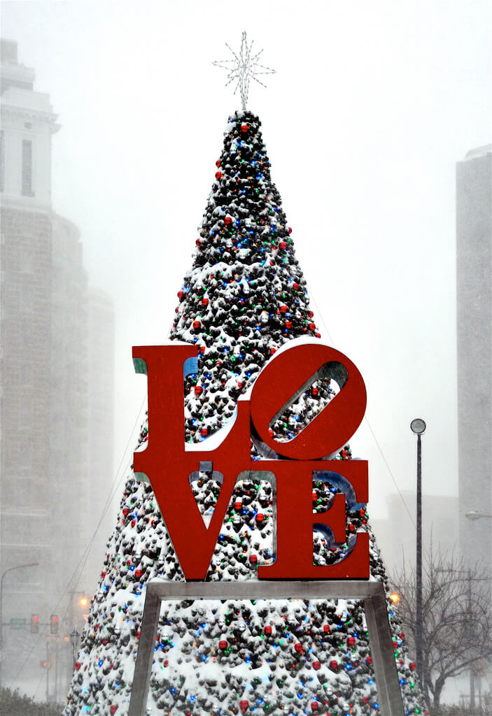 Love Park Christmas Tree