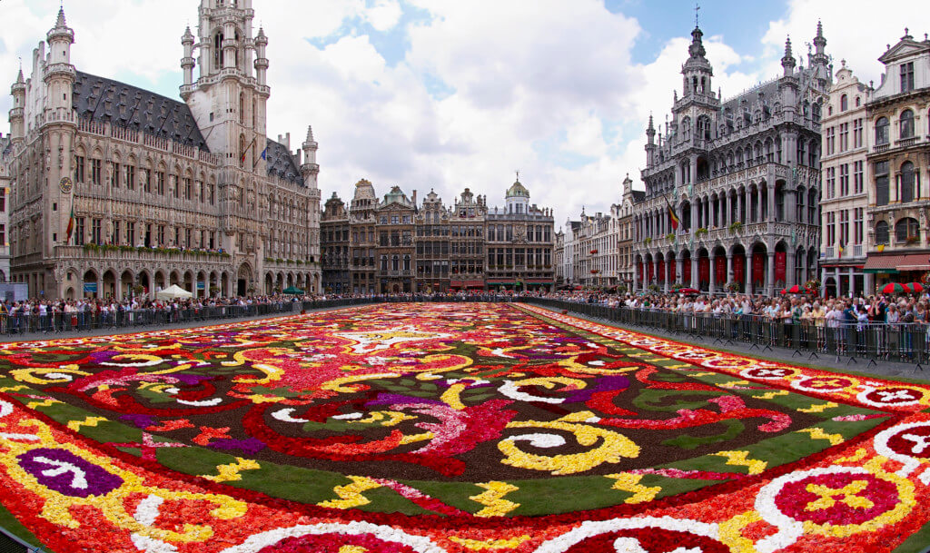 Brussels floral carpet in plaza