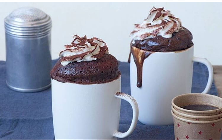 mug brownie thanksgiving dinner