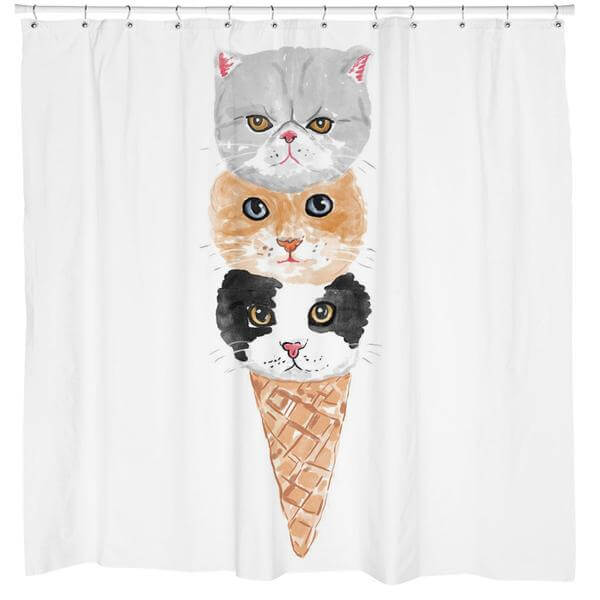kitty cone shower curtain what should I ask for Christmas