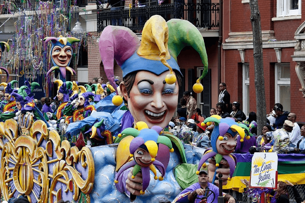 Parade in New Orleans, Louisiana