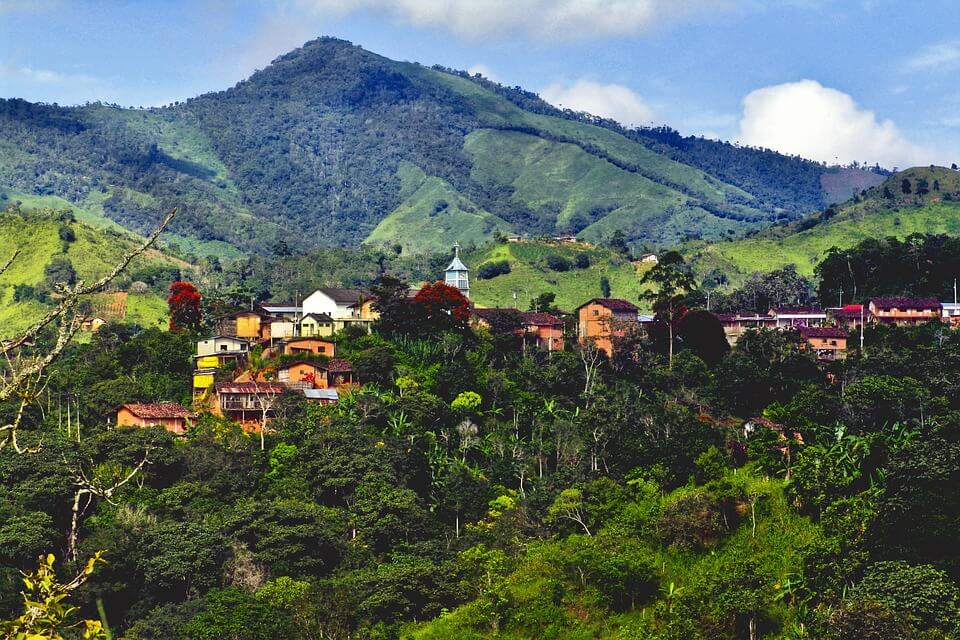 Village in the hills of Ecuador