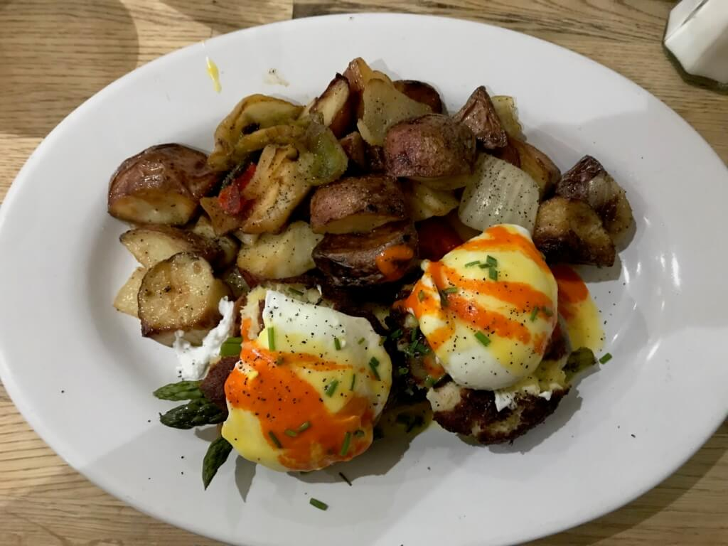 Veggies eggs benedict