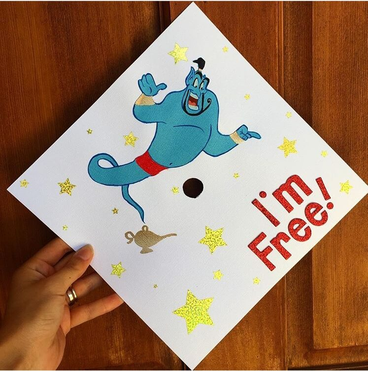 aladdin graduation cap ideas