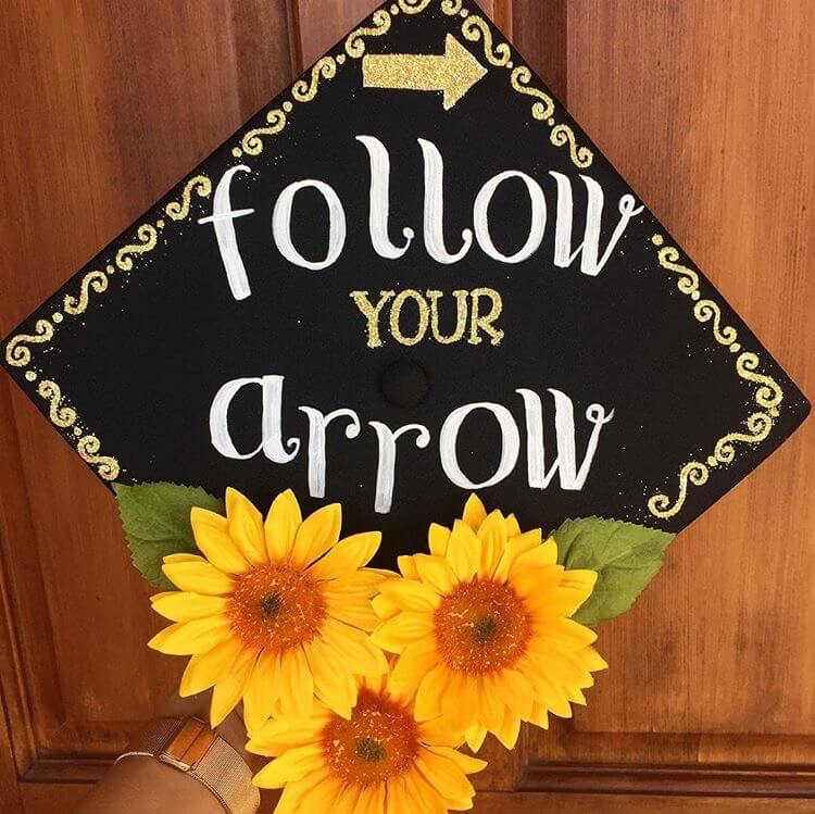 arrow graduation cap ideas