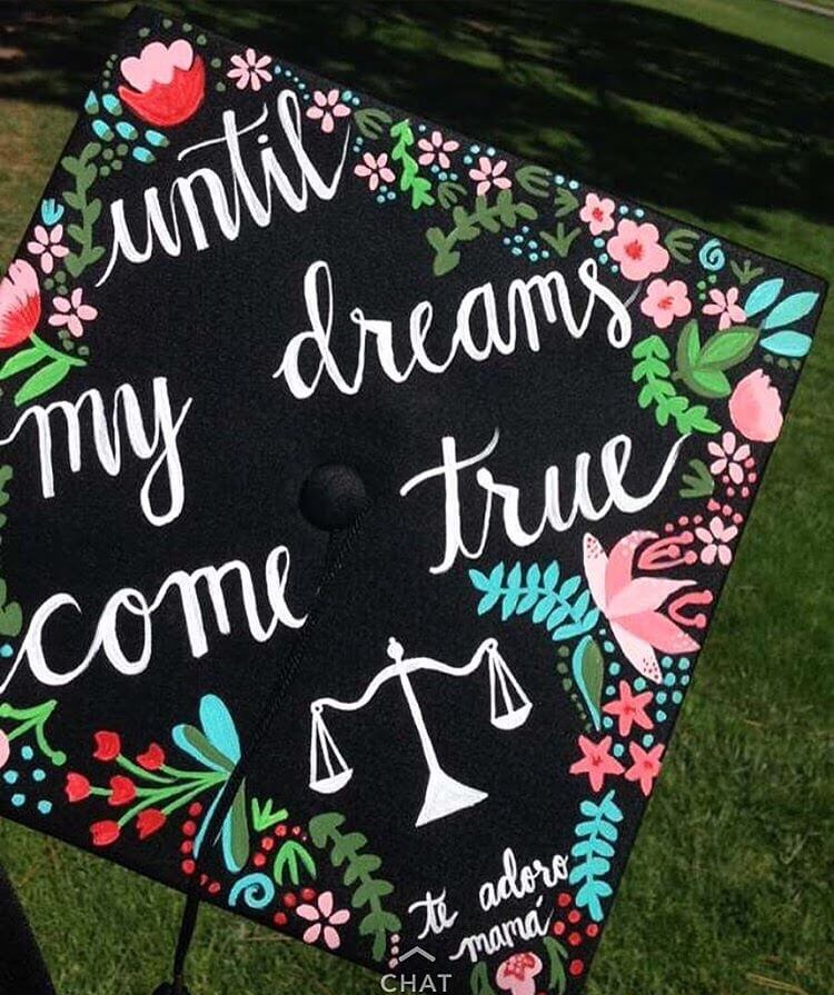 dreams graduation cap ideas