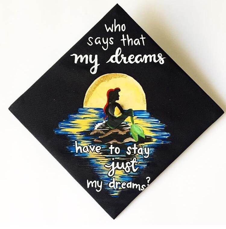 ariel graduation cap ideas