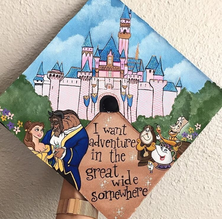 belle graduation cap ideas