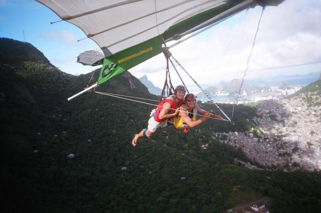 Tandem Hang Gliding valentines for best friends